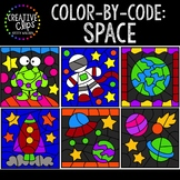 Color by Code: Space Clipart {Creative Clips Clipart}