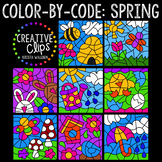 Color by Code: Spring Bundle {Creative Clips Clipart}