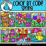 Color by Code Spring Clip Art Set - Chirp Graphics