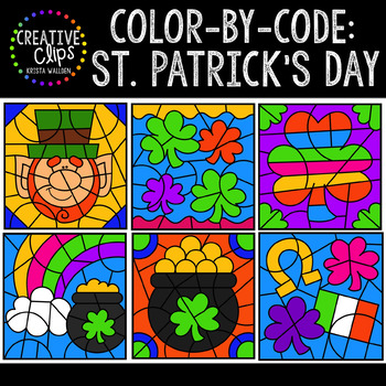 Color by Code: St. Patrick's Day Clipart {Creative Clips Clipart}