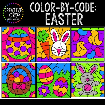 Color by Code: Easter Clipart {Creative Clips Clipart}
