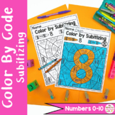 Color by Code Subitizing Numbers Activty and Worksheets