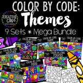 Color by Number or Code: THEMES Bundle {Creative Clips Clipart}