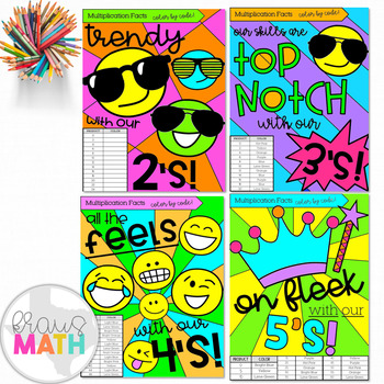 Color by Number TRENDY Bundle: Multiplication Facts 2-12!