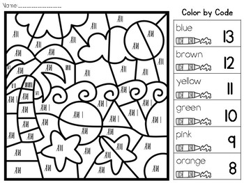Color by Code: Tally Marks