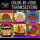 Color by Code: Thanksgiving Clipart {Creative Clips Clipart}