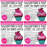 Color by Code Valentine's Day Worksheets Bundle