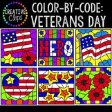 Color by Code: Veterans Day Clipart {Creative Clips Clipart}