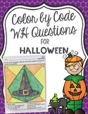Color by Code WH Questions for Halloween