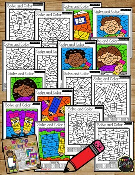 Color by Code WRITING Color by Number {Addition & Subtraction to 20}