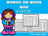 Color by Code Winter Activities