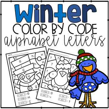Color by Code Winter Alphabet Letters