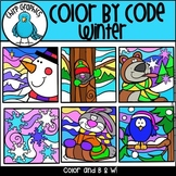 Color by Code Winter Clip Art Set - Chirp Graphics