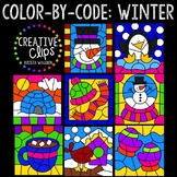 Color by Code: Winter Clipart Bundle {Creative Clips Clipart}