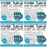 Color by Code Winter Worksheets Bundle PERFECT FOR DISTANC