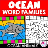 Color by Code Word Families Ocean Theme