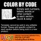 Color by Code clip art - Alphabet clipart Part 4 (P, Q, R, S, T)