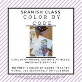 Color by Code for Beginning Spanish Students - Gender of Nouns and Articles