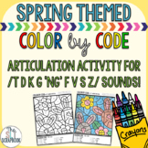 Color by Code- /t d k g ng f v s z/ sounds