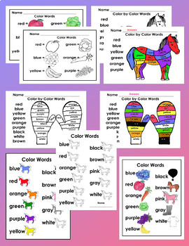 Color by Color Words