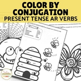 Color by Conjugation- AR Verbs Present Tense