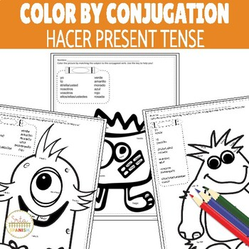 Color by Conjugation HACER Present Tense