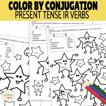 Color by Conjugation IR Verbs Present Tense