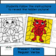 Color by Conjugation Spanish, 5 Color By Verb, Present Tense, MONSTERS