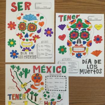 Color by Conjugation bundle Spanish verbs No prep Printable PDF Ser Estar Ir