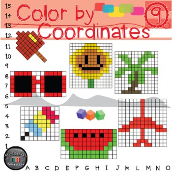 Color by Coordinates: Summer Pack