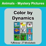 Color by Dynamics - Music Mystery Pictures - Animals