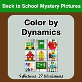 Color by Dynamics - Music Mystery Pictures - Back To School