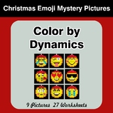 Color by Dynamics - Music Mystery Pictures - Christmas Emoji
