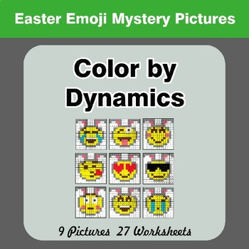 Color by Dynamics - Music Mystery Pictures - Easter Emoji