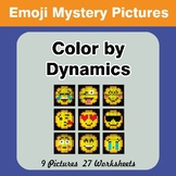 Color by Dynamics - Music Mystery Pictures - Emoji