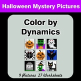 Color by Dynamics - Music Mystery Pictures - Halloween