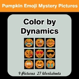 Color by Dynamics - Music Mystery Pictures - Halloween Emoji