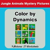 Color by Dynamics - Music Mystery Pictures - Jungle Animals