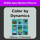 Color by Dynamics - Music Mystery Pictures - Middle Ages