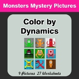 Color by Dynamics - Music Mystery Pictures - Monsters