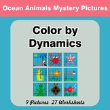 Color by Dynamics - Music Mystery Pictures - Ocean Animals
