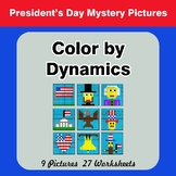 Color by Dynamics - Music Mystery Pictures - President's Day