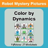 Color by Dynamics - Music Mystery Pictures - Robots
