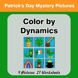 Color by Dynamics - Music Mystery Pictures - St. Patrick's Day