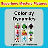 Color by Dynamics - Music Mystery Pictures - Superhero