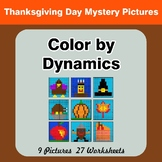 Color by Dynamics - Music Mystery Pictures - Thanksgiving