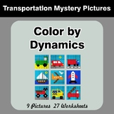 Color by Dynamics - Music Mystery Pictures - Transportation
