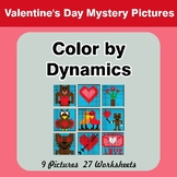 Color by Dynamics - Music Mystery Pictures - Valentine's Day