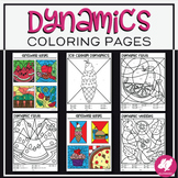 Color-by-Dynamics Music Coloring Pages | Dynamics Worksheets | Distance Learning