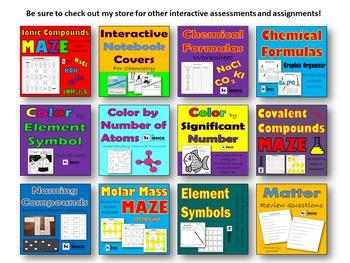 Color by Element Symbol Worksheet